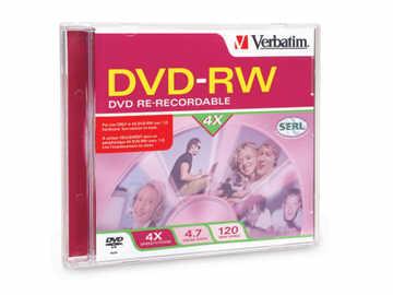 Verbatim Verbatim (94836) Dvd-Rw 4.7Gb 4X Branded