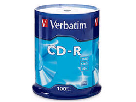 Verbatim Cd-R 80Min 700Mb 52X Branded 100Pk Spindl