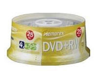 Imation Dvd+Rw, Memorex, 25Pk Spindle, 4X, 4.7 Gb,