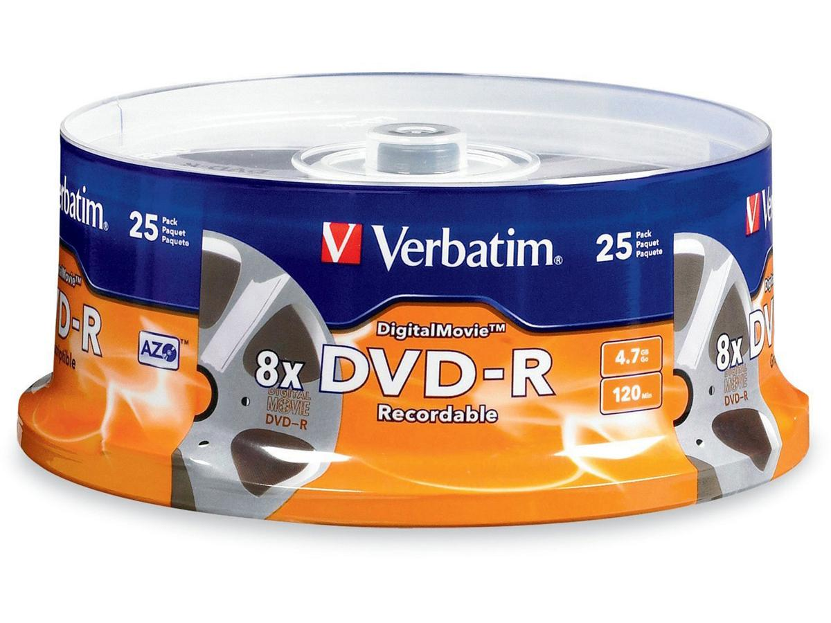 Verbatim Verbatim Digitalmovie - 25 X Dvd-R 4.7 Gb