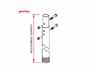 Peerless 57 Adjustable Extension Column For Multi