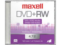 Maxell Dvd+Rw 4.7 Spindle Rewritable 4X