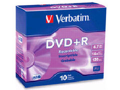 Verbatim Verbatim - X Dvd+R 4.7 Gb 16X - Slim Jewe